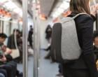 Cesta do práce s batohem