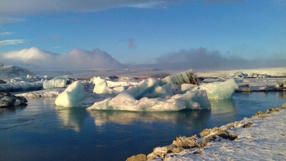 Laguna Jökulsárlón - Island