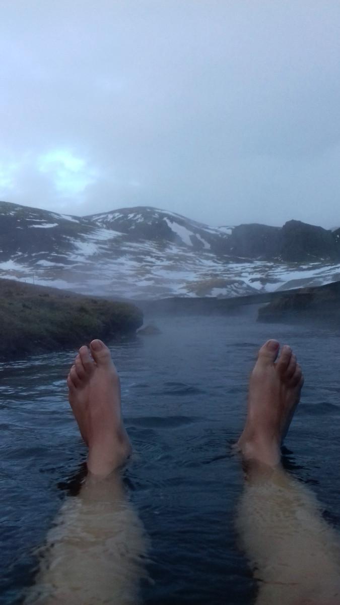 Termální koupel na Islandu