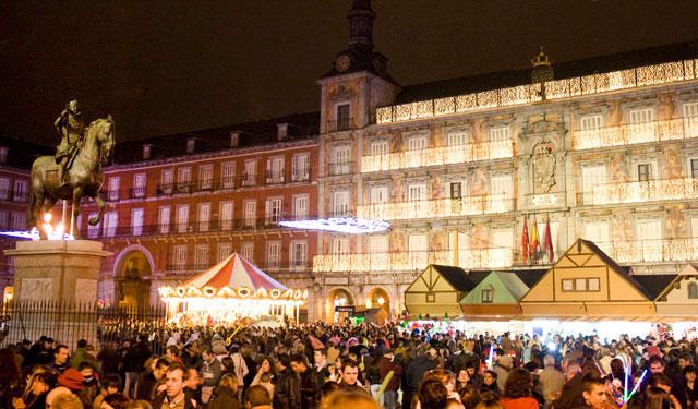 Madrid vánoční trhy