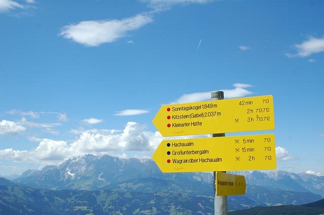 Turistické značení v zahraničí.