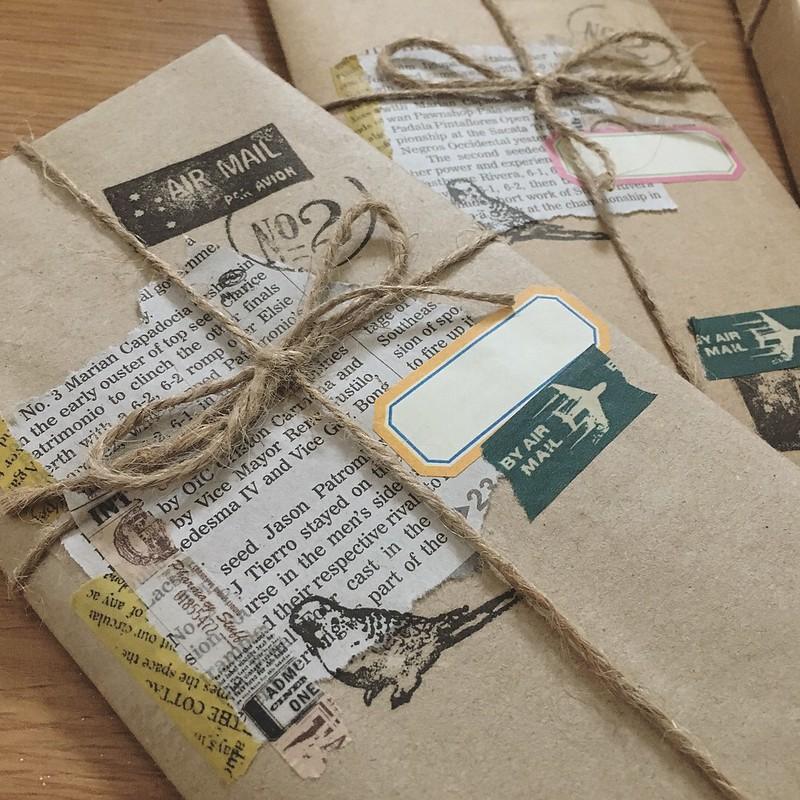 Balení dárků do novin