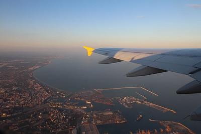 Výhled z letadla a levné letenky.