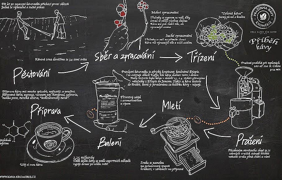 příběh a cesty za chutí kávy